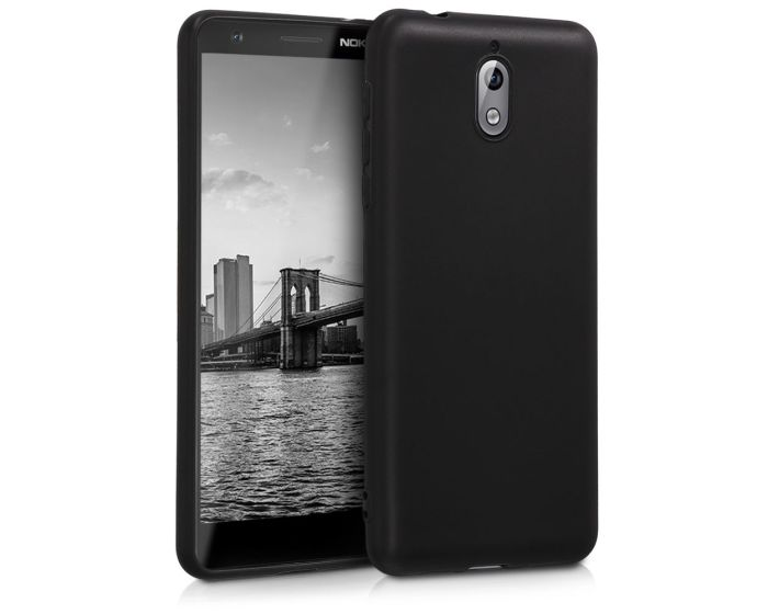 KWmobile TPU Silicone Case (45392.47) Black Matte (Nokia 3.1 2018)
