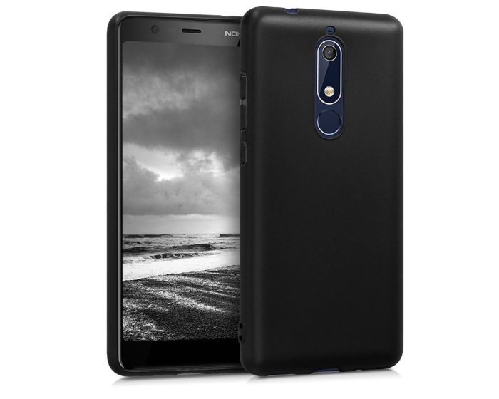 KWmobile TPU Silicone Case (45401.47) Black Matte (Nokia 5.1 2018)