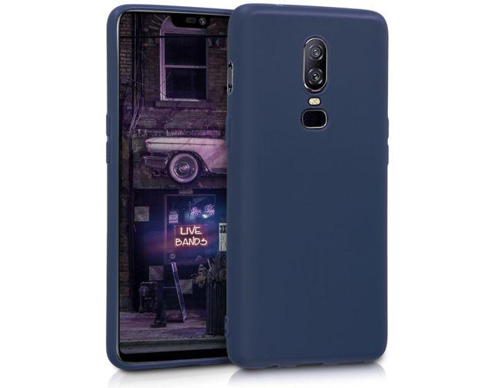 KWmobile TPU Silicone Case (45431.17) Dark Blue Matte (OnePlus 6)