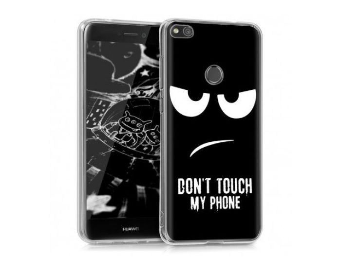 KWmobile TPU Silicone Case (40898.05) Don't Touch my Phone (Huawei P8 Lite 2017 / P9 Lite 2017 / Honor 8 Lite)
