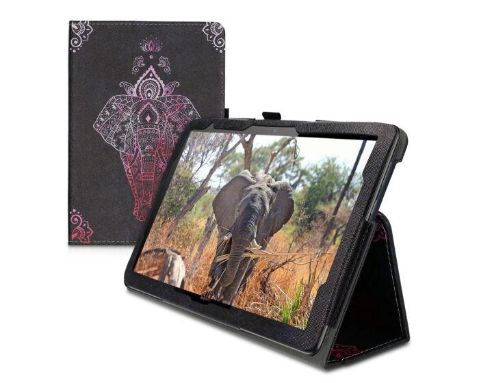 KWmobile Θήκη Folio Stand Case (46111.09) Elephant Sketch (Huawei MediaPad T5 10.1'')