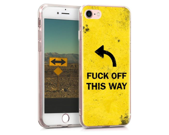 KWmobile Θήκη Σιλικόνης Slim Fit Silicone Case (39459.22) Fuck off This Way (iPhone 7 / 8 / SE 2020)