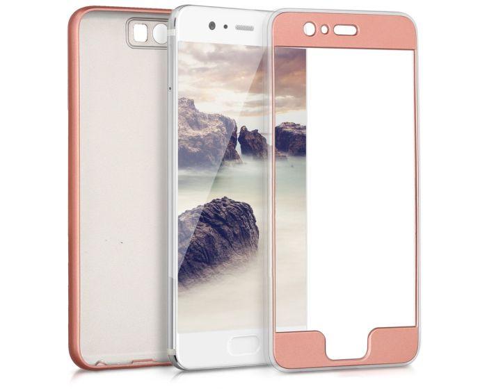 KWmobile 360 Full Cover TPU Case (42880.31) Metallic Rose Gold (Huawei P10)