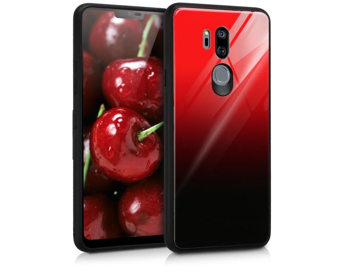 KWmobile Glass TPU Case (45579.01) Red Black (LG G7 ThinQ)