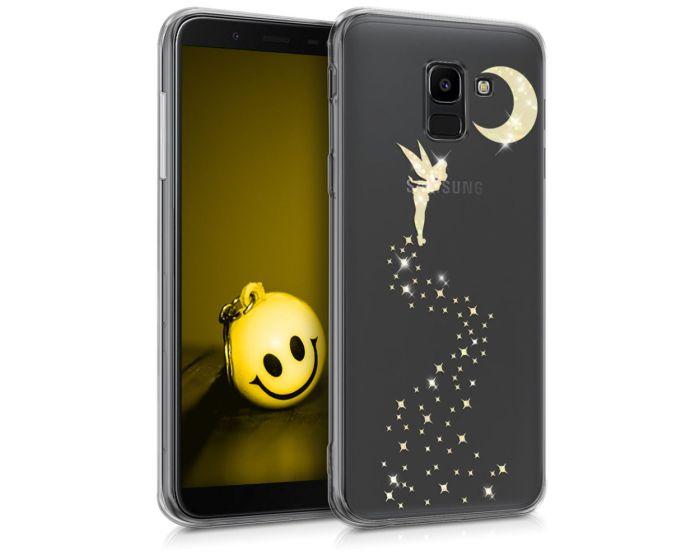 KWmobile Slim Fit Gel Case Glittery Fairy (45800.01) Θήκη Σιλικόνης Διάφανη / Χρυσό (Samsung Galaxy J6 2018)