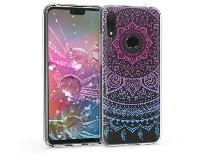 KWmobile Slim Fit Gel Case Indian Sun (48121.01) Θήκη Σιλικόνης  Ροζ / Διάφανο (Huawei Y6 2019 / Honor 8A)