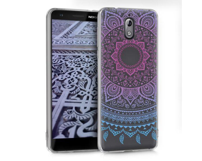 KWmobile Slim Fit Gel Case Indian Sun (45394.02) Θήκη Σιλικόνης  Ροζ / Διάφανο (Nokia 3.1 2018)