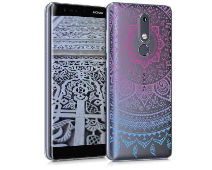 KWmobile Slim Fit Gel Case Indian Sun (45403.01) Θήκη Σιλικόνης  Ροζ / Διάφανο (Nokia 5.1 2018)