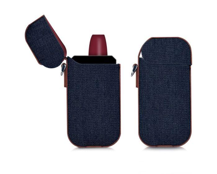 KWmobile Jeans Protective Cover Case (42591.01) Θήκη Αποθήκευσης και Μεταφοράς για το IQOS Pocket Charger - Grey / Brown