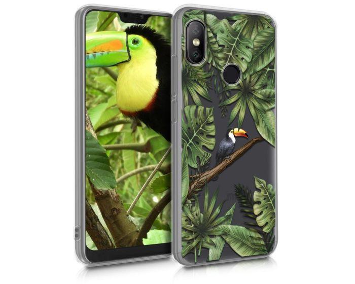 KWmobile Slim Fit Gel Case Jungle Toucan (46064.01) Θήκη Σιλικόνης (Xiaomi Mi A2 Lite / Redmi 6 Pro)