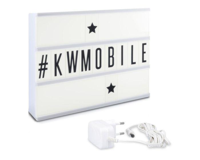 KWmobile Led Cinema Light Box (39867) Φωτεινός Πίνακας Διαστάσεων A4 (105 Black Letters)