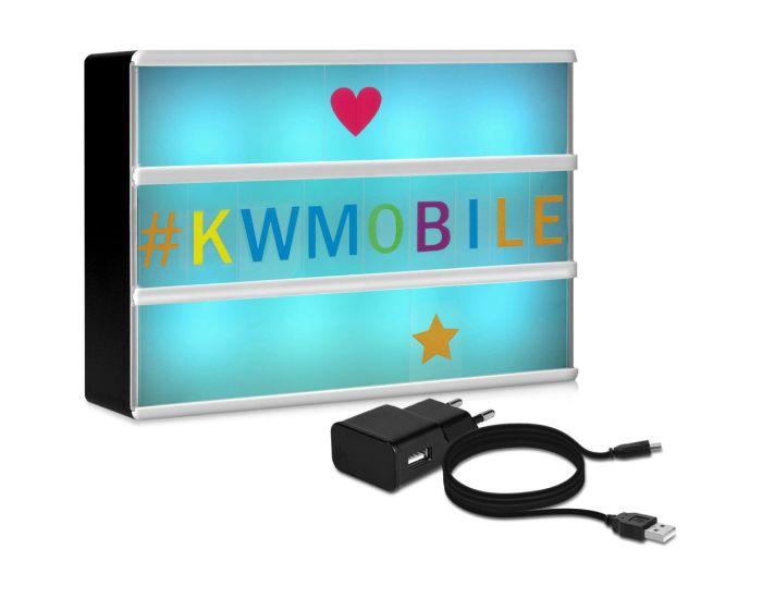 KWmobile Led Cinema Light Box Multicolor (41045) Φωτεινός Πίνακας Διαστάσεων A6 (126 Multicolor Letters)