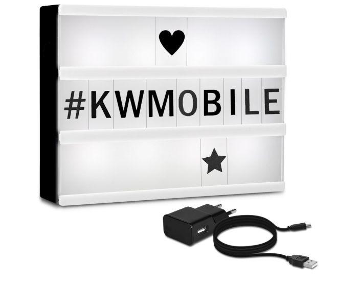 KWmobile Led Cinema Light Box (41050) Φωτεινός Πίνακας Διαστάσεων A5 (126 Black Letters)