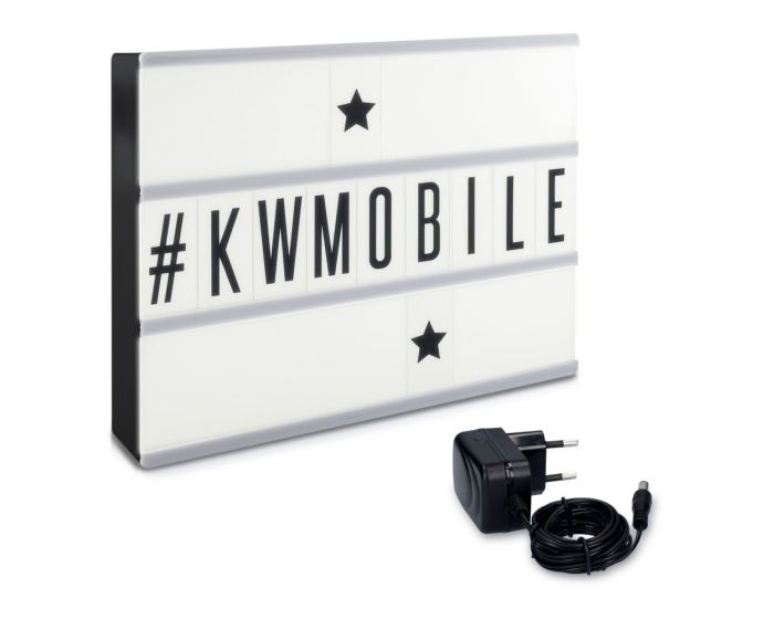 KWmobile Led Cinema Light Box (42478) Φωτεινός Πίνακας Διαστάσεων A4 (210 Black Letters)
