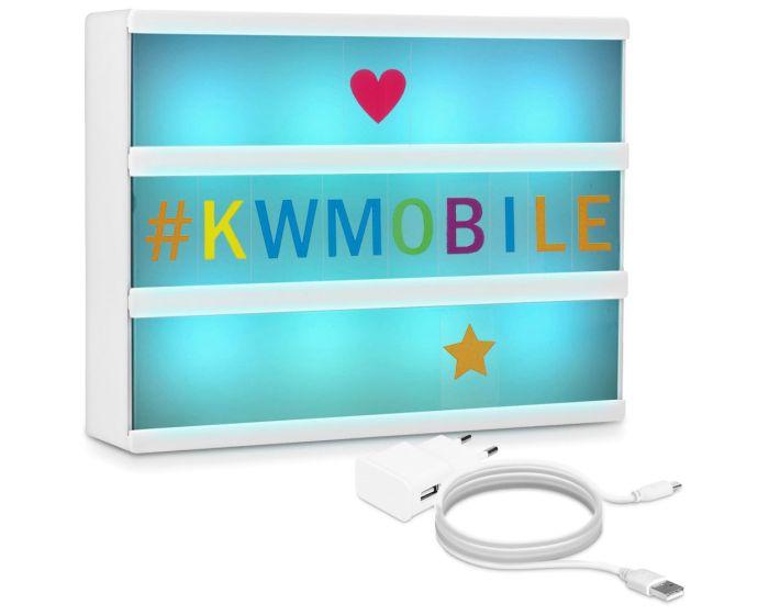 KWmobile Led Cinema Light Box Multicolor (42798) Φωτεινός Πίνακας Διαστάσεων A4 (126 Multicolor Letters)