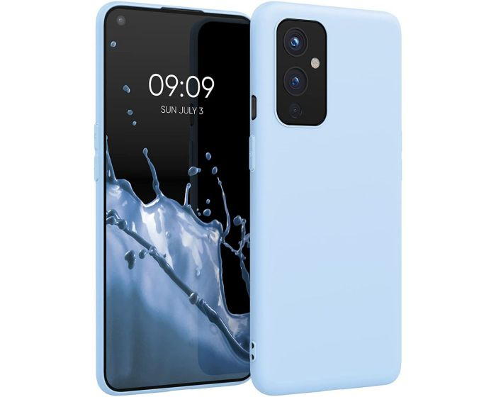 KWmobile TPU Silicone Case (54426.58) Light Blue Matte (OnePlus 9)
