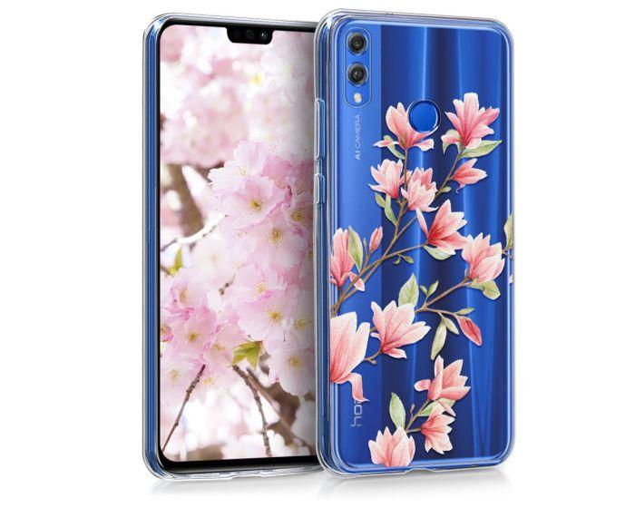 KWmobile Slim Fit Gel Case Magnolia (46957.01) Θήκη Σιλικόνης Διάφανη / Ροζ (Huawei Honor 8X)