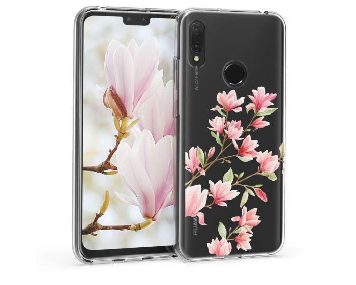 KWmobile Slim Fit Gel Case Magnolia (48121.03) Θήκη Σιλικόνης Διάφανη / Ροζ (Huawei Y6 2019 / Honor 8A)