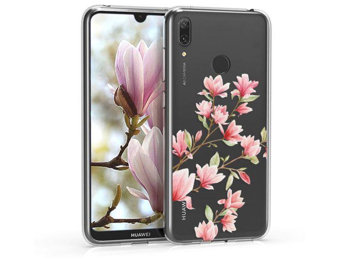 KWmobile Slim Fit Gel Case Magnolia (47659.02) Θήκη Σιλικόνης Διάφανη / Ροζ (Huawei Y7 2019 / Y7 Prime 2019)