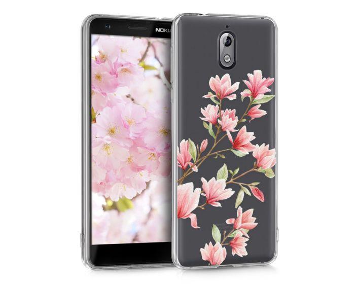 KWmobile Slim Fit Gel Case Magnolia (45394.03) Θήκη Σιλικόνης Διάφανη / Ροζ (Nokia 3.1 2018)