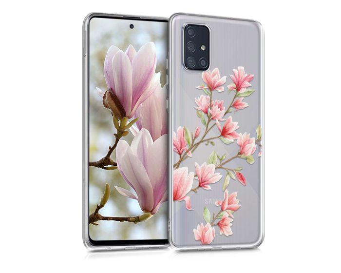 KWmobile Slim Fit Gel Case Magnolia (51211.01) Θήκη Σιλικόνης Διάφανη / Ροζ (Samsung Galaxy A71)