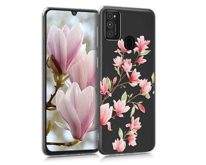 KWmobile Slim Fit Gel Case Magnolia (52201.02) Θήκη Σιλικόνης Διάφανη / Ροζ (Samsung Galaxy M21 / M30s)