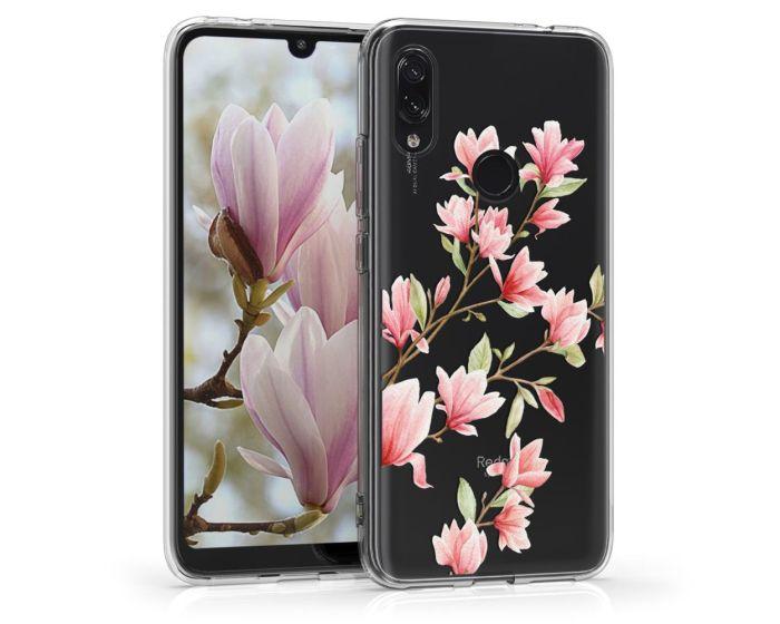 KWmobile Slim Fit Gel Case Magnolia (48652.01) Θήκη Σιλικόνης Διάφανη / Ροζ (Xiaomi Redmi 7)