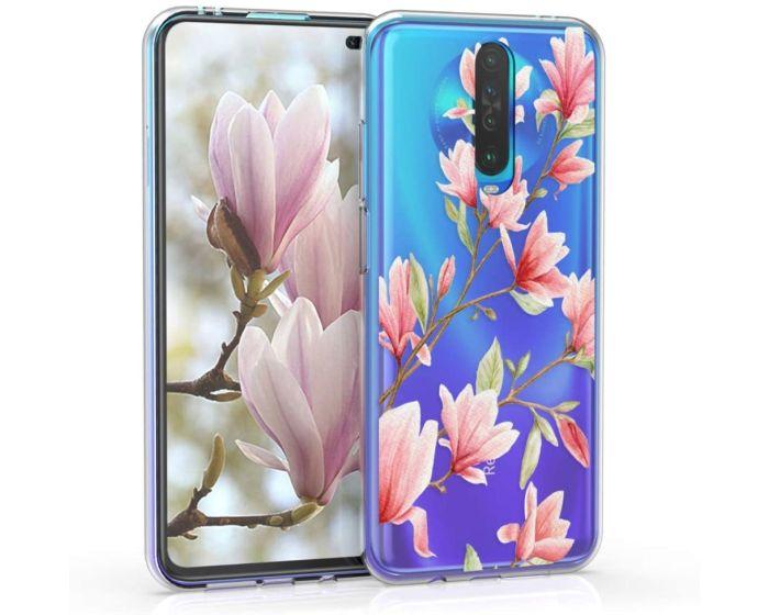 KWmobile Slim Fit Gel Case Magnolia (51284.01) Θήκη Σιλικόνης Διάφανη / Ροζ (Xiaomi Redmi K30)