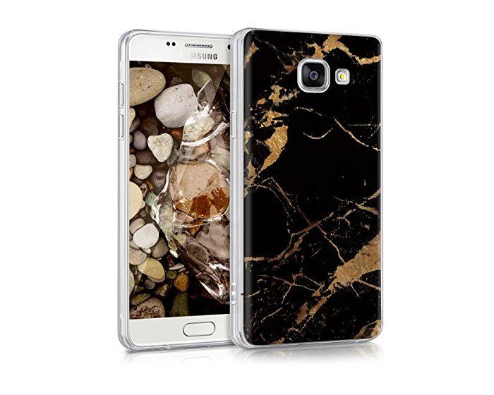 KWmobile Slim Fit Gel Case Marble Black (38374.13) Θήκη Σιλικόνης Μαύρο / Λευκό (Samsung Galaxy A5 2016)