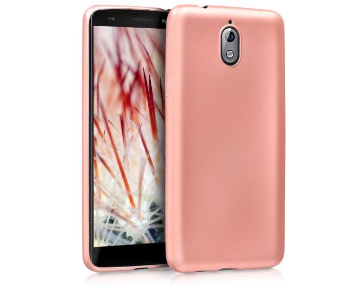 KWmobile TPU Silicone Case (45393.31) Metallic Rose Gold (Nokia 3.1 2018)