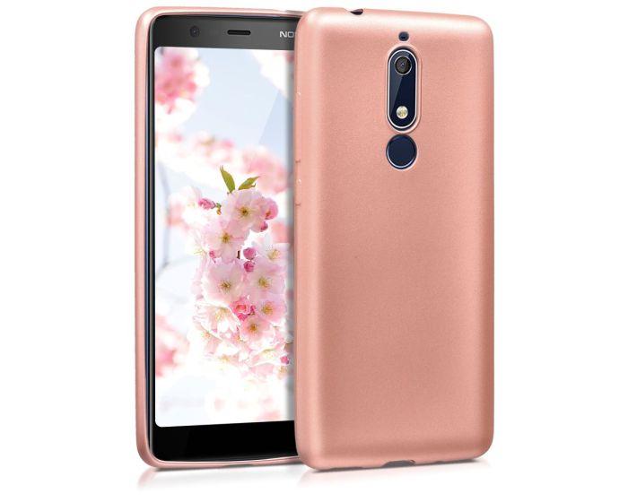 KWmobile TPU Silicone Case (45402.31) Metallic Rose Gold (Nokia 5.1 2018)