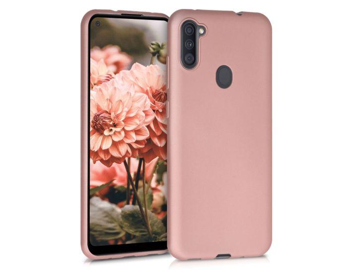 KWmobile TPU Silicone Case (52174.31) Metallic Rose Gold (Samsung Galaxy A11)