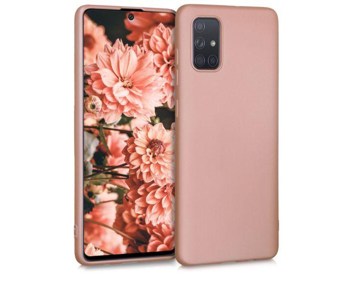 KWmobile TPU Silicone Case (51213.31) Metallic Rose Gold (Samsung Galaxy A71)
