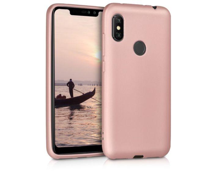 KWmobile TPU Silicone Case (46508.31) Metallic Rose Gold (Xiaomi Redmi Note 6 Pro)