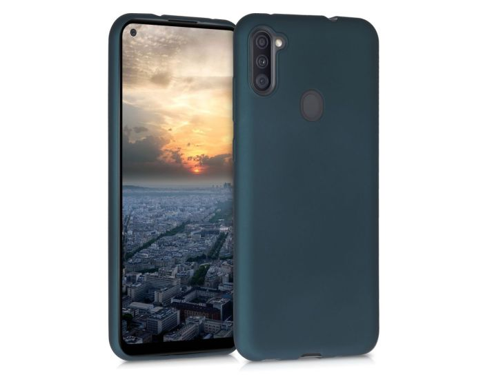 KWmobile TPU Silicone Case (52174.14) Metallic Teal (Samsung Galaxy A11)