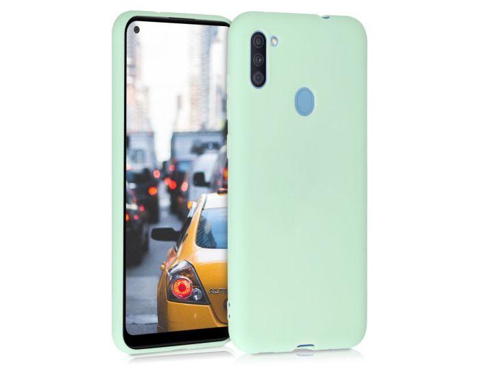 KWmobile TPU Silicone Case (52169.50) Mint Matte (Samsung Galaxy A11)