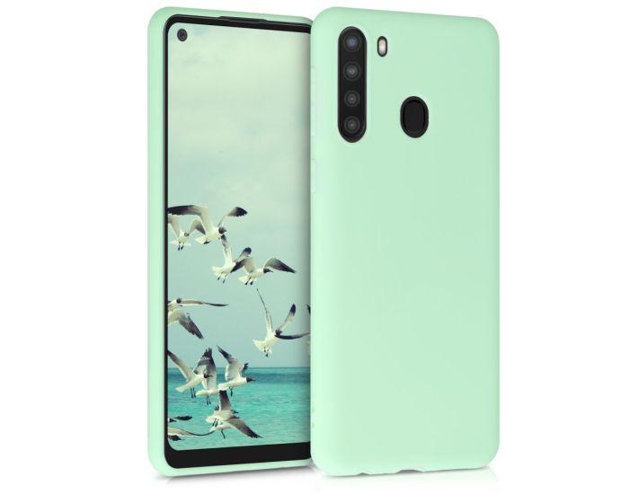 KWmobile TPU Silicone Case (52309.50) Mint Matte (Samsung Galaxy A21)