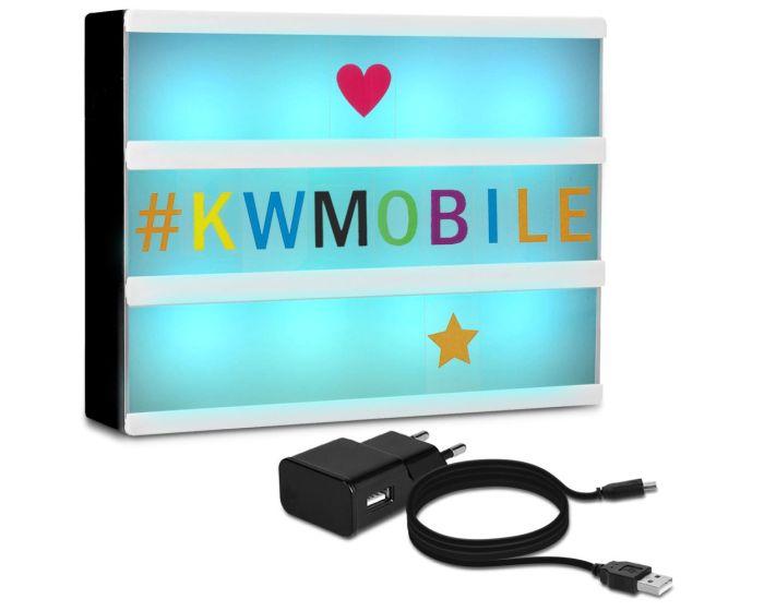 KWmobile Led Cinema Light Box Multicolor (46221.01) Φωτεινός Πίνακας Διαστάσεων A4 (252 Black & Multicolor Letters)