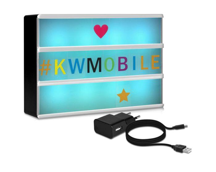 KWmobile Led Cinema Light Box Multicolor (47062.01) Φωτεινός Πίνακας Διαστάσεων A6 (252 Black & Multicolor Letters)