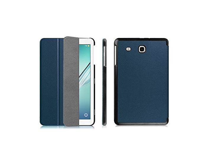KWmobile Premium Slim Smart Cover Case (36186.17) με δυνατότητα Stand - Navy Blue (Samsung Galaxy Tab E 9.6 - T560 / T561)