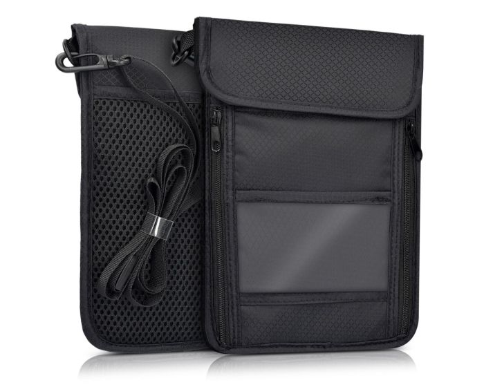 KWmobile Neck Pouch for Travelling RFID Anti Theft (41280.01) Black