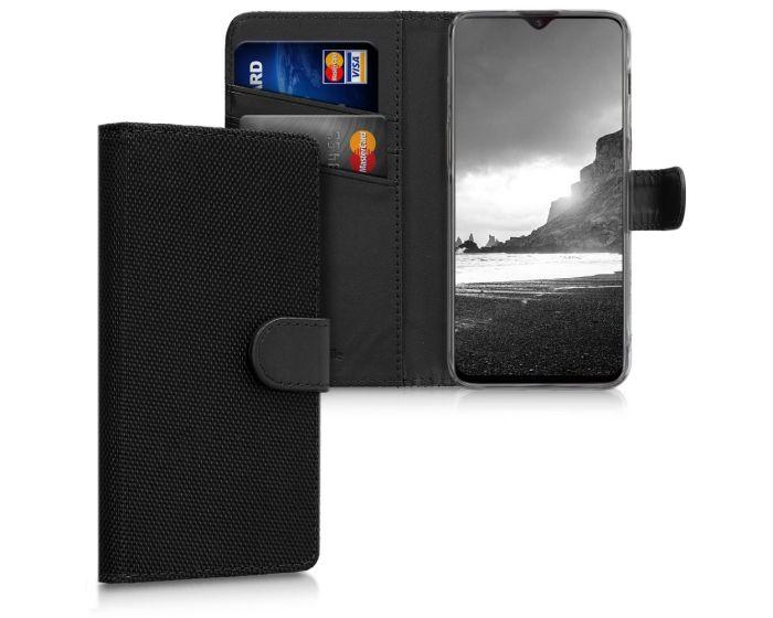 KWmobile Nylon Wallet Case (46939.01) Θήκη Πορτοφόλι με δυνατότητα Stand Black (OnePlus 6T)