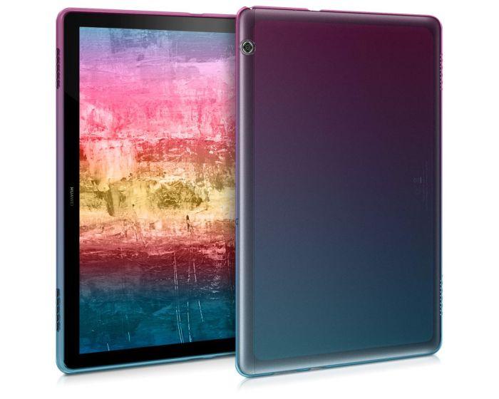 KWmobile TPU Silicone Case (46675.01) Dark Pink / Blue / Transparent (Huawei MediaPad T5 10.1)
