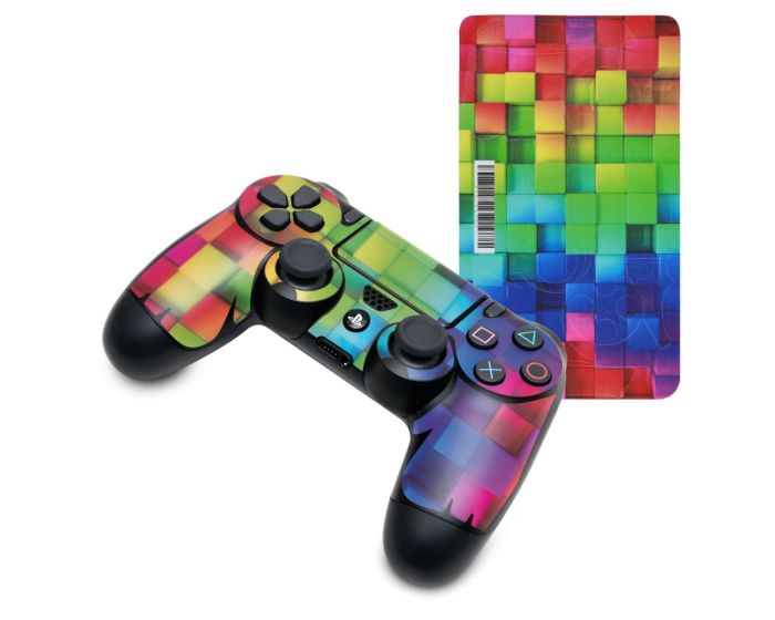 KWmobile PS4 Controller Sticker (48261.01) Rainbow Cubes Multicolor (PlayStation 4)