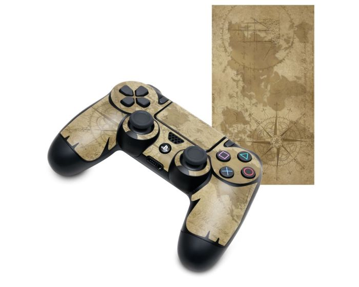 KWmobile PS4 Controller Sticker (48261.05) Vintage Wolrd Map (PlayStation 4)