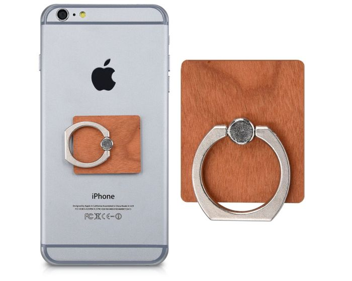 KWmobile Ring Wood Finger Holder (42522.24) Δαχτυλίδι Συγκράτησης Cherrywood Light Brown