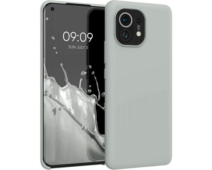 KWmobile Flexible Rubber Case Θήκη Σιλικόνης (54379.70) Light Gray Matte (Xiaomi Mi 11)