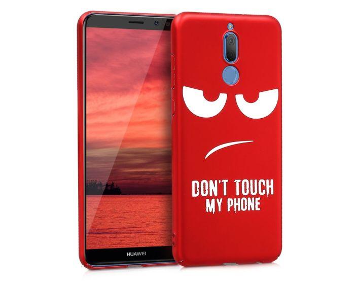 KWmobile Slim Fit Hard Case Don't touch my phone (44112.02) Θήκη Σιλικόνης Κόκκινη (Huawei Mate 10 Lite)