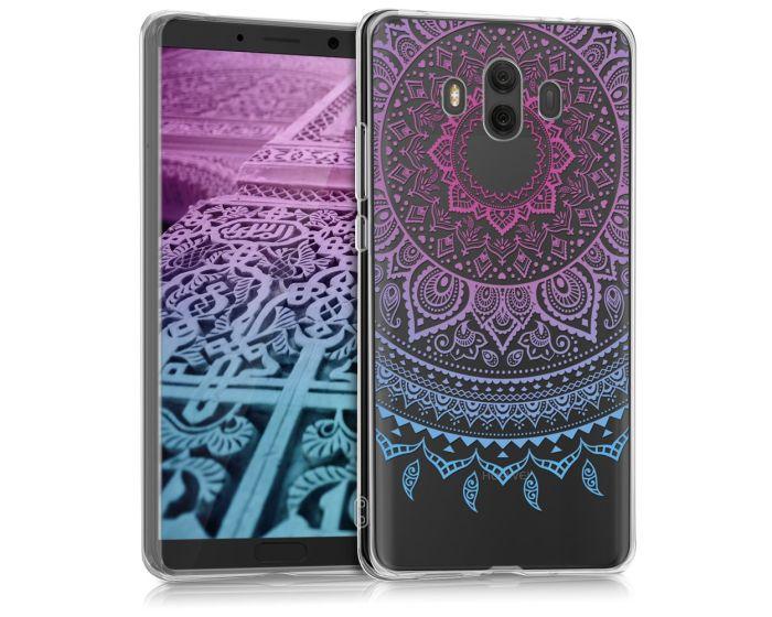 KWmobile Slim Fit Gel Case Indian Sun (43125.01) Θήκη Σιλικόνης Μπλε / Ροζ / Διάφανη (Huawei Mate 10)