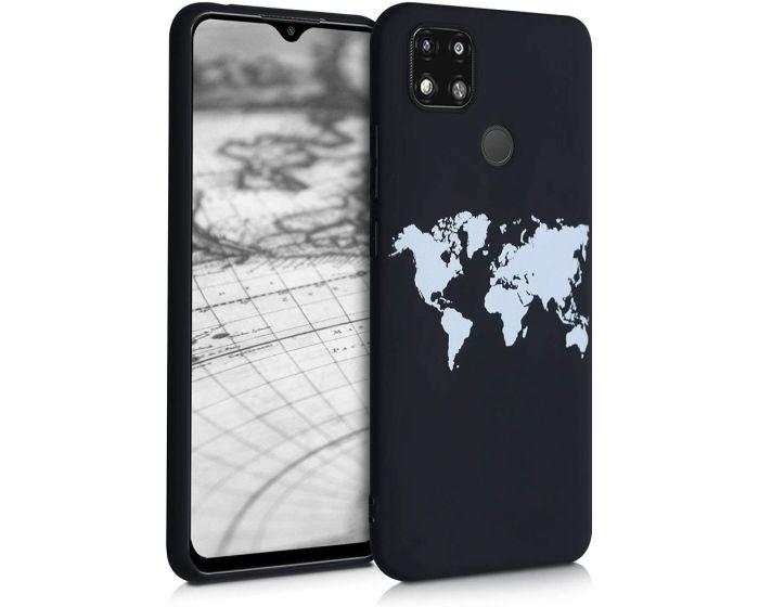 KWmobile TPU Silicone Case (52851.02) Travel Outline (Xiaomi Redmi 9C)